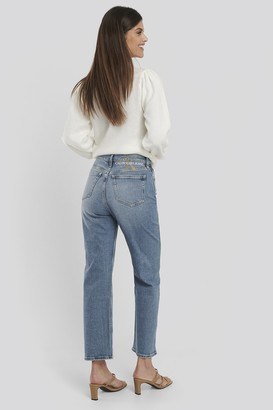 Calvin Klein 030 High Rise Straight Ankle Jeans Blue