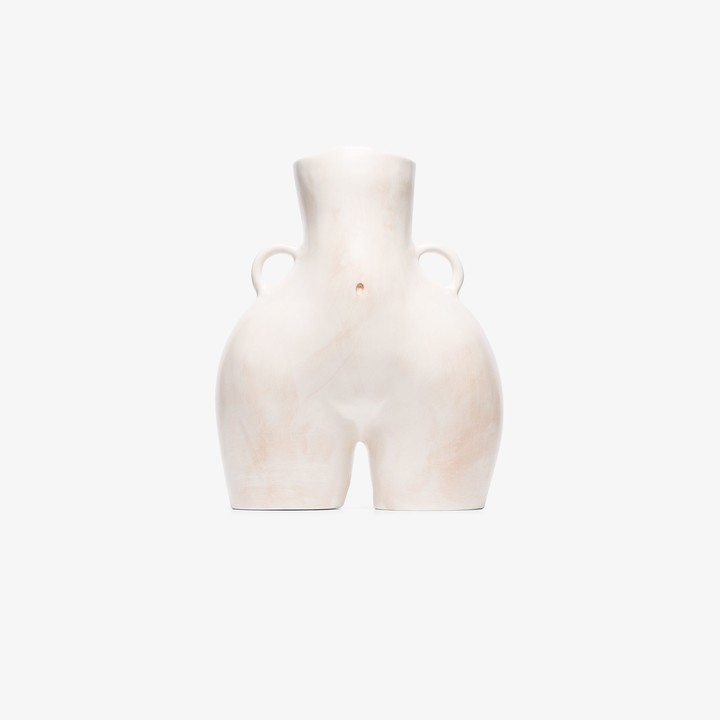 Anissa Kermiche neutral Love Handles ceramic vase