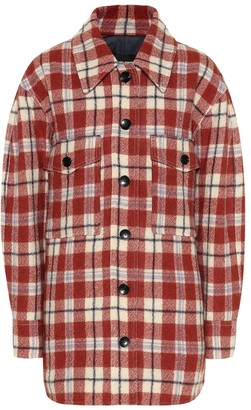Isabel Marant Harvey checked virgin wool jacket