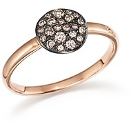 Pomellato Sabbia Ring with Diamonds in Burnished 18K Rose Gold