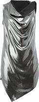Masnada draped metallic (Grey) top - women - Polyester - 44