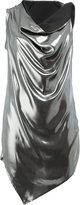 Masnada draped metallic top