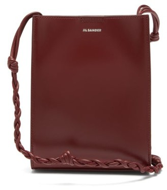 Jil Sander Tangle Small Braided-strap Leather Cross-body Bag - Burgundy