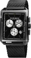 Akribos XXIV Men's Quartz Chronograph Date Stainless Steel Watch, 34mm