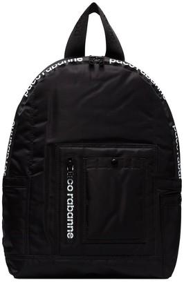 Paco Rabanne logo sports backpack