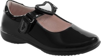 Lelli Kelly Kids Children's Dolly Heart Leather School Shoes, Black Patent