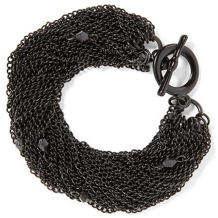 Juicy Couture Tinley Road Black Multi Chain Torsade Bracelet