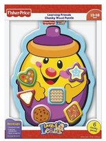 Fisher-Price Laugh & Learn Cookie Jar Shapes Wood Puzzle 6 pcs