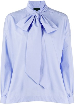 Jejia Tie Neck Puff Sleeve Shirt