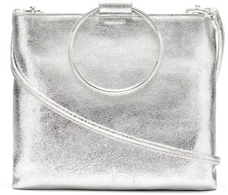 THACKER Le Pouch Leather Ring Handle Crossbody Bag