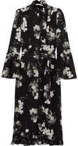 Erdem Siren Ruffled Floral-print Silk Crepe De Chine Dress