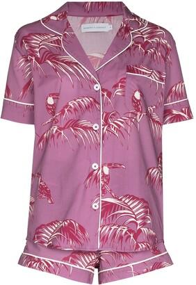 Desmond & Dempsey Bocas print pyjama set