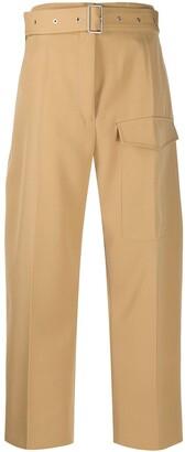 Jil Sander High-Waist Belted Trousers