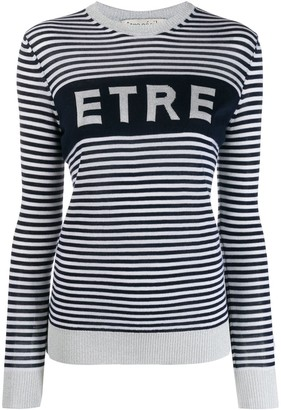 Être Cécile Striped Logo Jumper
