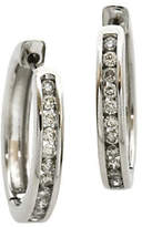 Fine Jewellery 14k White Gold Earrings with 0.50 Total Carat Weight Diamonds Box Set