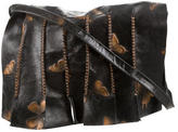 Carlos Falchi Printed Leather Messenger Bag