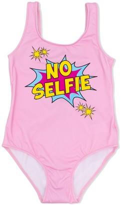 MC2 Saint Barth No Selfie Print Swimsuit
