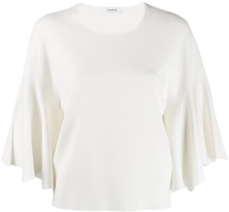 P.A.R.O.S.H. Boxy Flared Sleeve Blouse