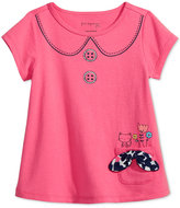 First Impressions Graphic-Print Peter Pan Collar T-Shirt, Baby Girls (0-24 months), Only at Macy's