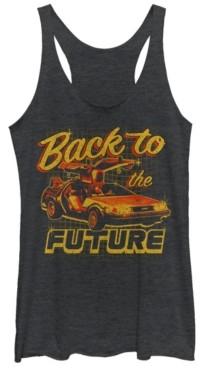 Fifth Sun Back To The Future Car Tri-Blend Racer Back Tank