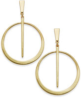 INC International Concepts Gold-Tone Circle & Spike Drop Earrings, Created for Macy's