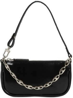 BY FAR MINI RACHEL PATENT LEATHER BAG