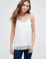 Vila Cami Top With Lace Detail