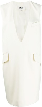 MM6 MAISON MARGIELA V-neck shift dress