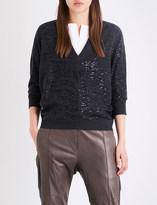 Brunello Cucinelli Sequin-embellished cashmere jumper