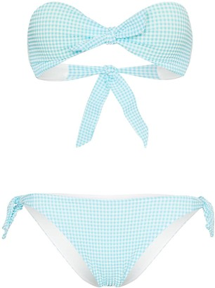 Paper London Gingham Bandeau Bikini