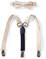 Starting Out Baby Boys Linen Bow Tie & Suspender Set