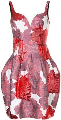 Paule Ka open-back floral dress
