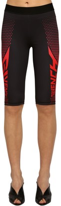 Givenchy Logo Print Tech Jersey Cycling Shorts
