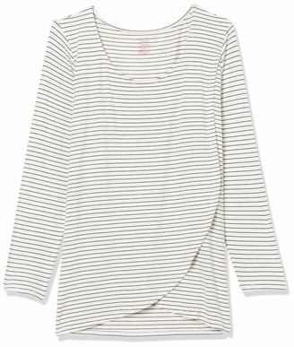 Everly Grey Women's Adriana Maternity and Nursing Long Sleeve Layered Top