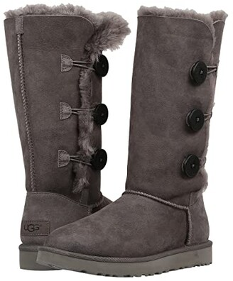 UGG Bailey Button Triplet II (Grey) Women's Boots