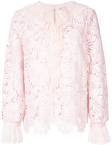 No.21 lace detail blouse - women - Silk/Polyester - 40