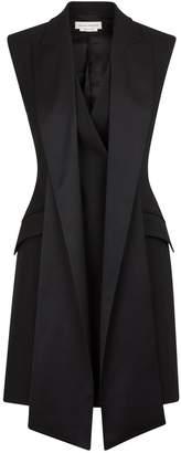 Alexander McQueen Silk and wool dress