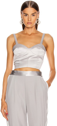 Fleur Du Mal Unstructured Bustier in Platinum | FWRD