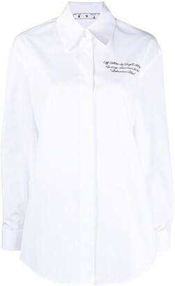 Off-White Slogan Cotton Shirt