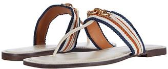Tory Burch Jessa Thong Sandal (Dulce de Leche/Tan Multi) Women's Shoes
