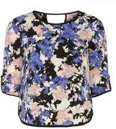 Dorothy Perkins Petite violet floral blouse