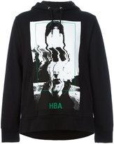 Hood by Air abstract print hoodie