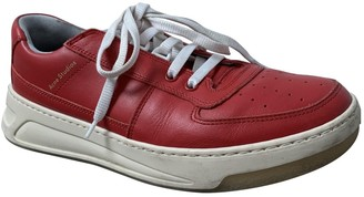 Acne Studios Red Leather Trainers