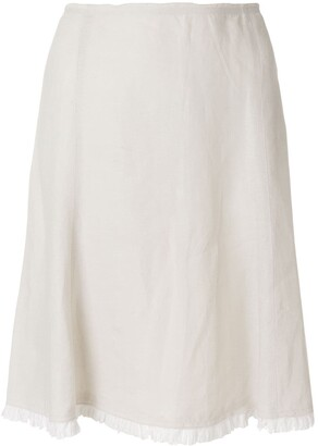 Prada Pre-Owned pleated hem A-line skirt