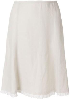 Prada Pre Owned pleated hem A-line skirt