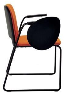 Lips Stackable Chair Segis U.S.A Outside Seat Finish: Black, Inside Seat Upholstery: Momentum Beeline Vinyl Eclipse, Frame Finish: Black