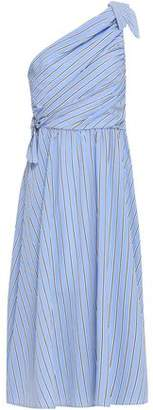 A.L.C. Cabrera One-shoulder Striped Poplin Midi Dress