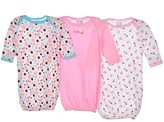 """Luvable Friends Sweetie Pie"""" 3-Pack Gowns"""
