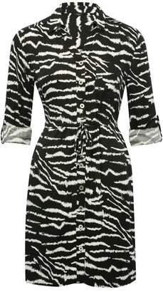 M&Co Petite zebra print shirt dress