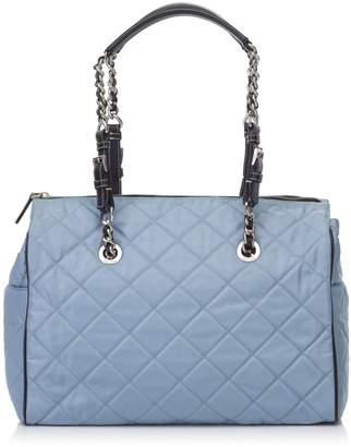 Prada Blue Quilted Nylon Shoulder Bag